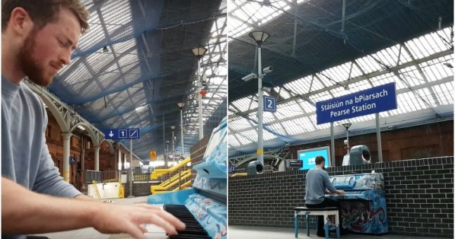 WATCH: Galway man playing the public piano in Pearse Station is seriously talented