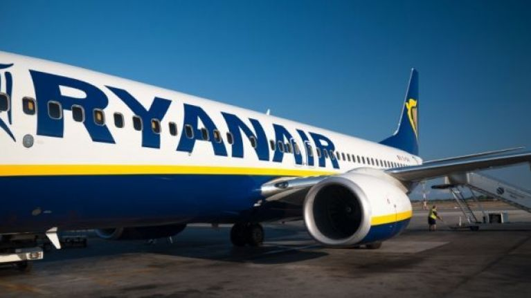 WATCH: Ryanair passengers in Barcelona escape on emergency chute after a phone caught fire just before takeoff