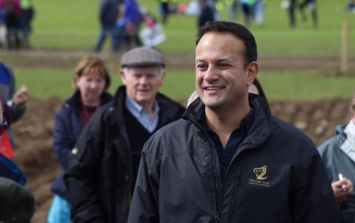 Leo Varadkar does his best 'man of the people' impression at the Ploughing Championships