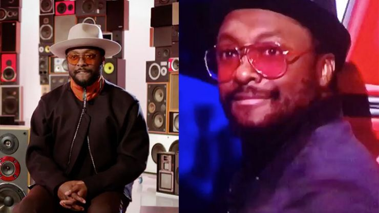will.i.am appeared to sneak in a crafty dab on The Voice