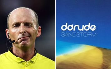 Everyone's loving the moment Mike Dean broke out into a trance classic during Monday's game