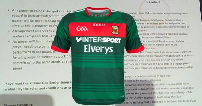 PIC: Another GAA club 'player contract' has surfaced, this one is from Mayo