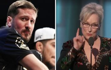 """F**k off."" John Kavanagh responds to Meryl Streep's comments about MMA at the Golden Globes"
