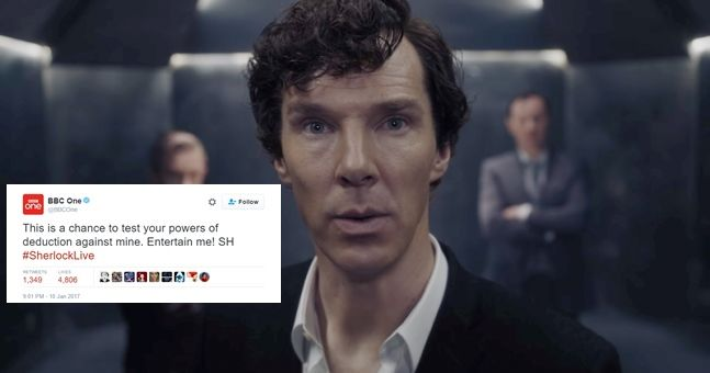 Thousands of people tried to solve this live mystery posed by 'Sherlock' on the BBC this evening