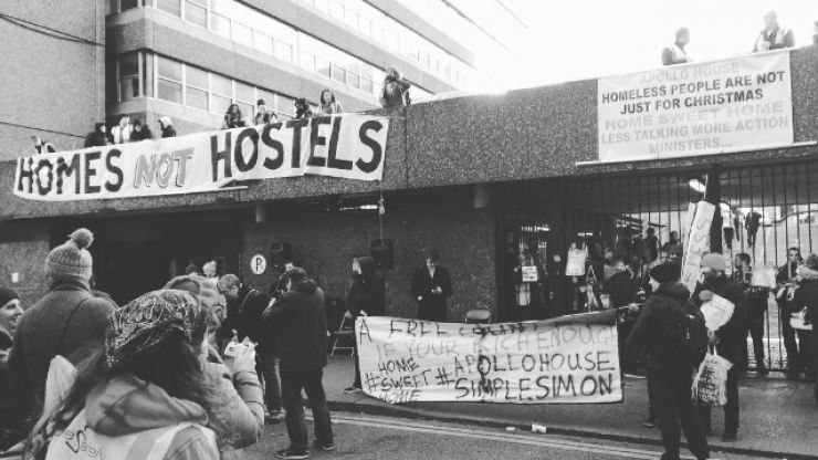 REPORTS: Apollo House residents leaving the building on Thursday morning