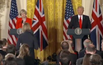 WATCH: People are praising a BBC journalist for her blunt questions to Theresa May and Donald Trump