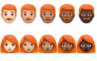 There's an emoji for gingers on the way, but you're going to have to wait