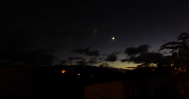 Make sure to look at the sky tonight to see Mars, Venus and the Moon in a rare sight