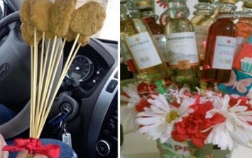 Nothing says 'Happy Valentine's Day' quite like a bouquet of chicken nuggets, bacon or wine