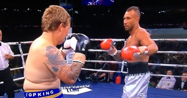 WATCH: Quade Cooper smashed his out-of-shape opponent in a ...