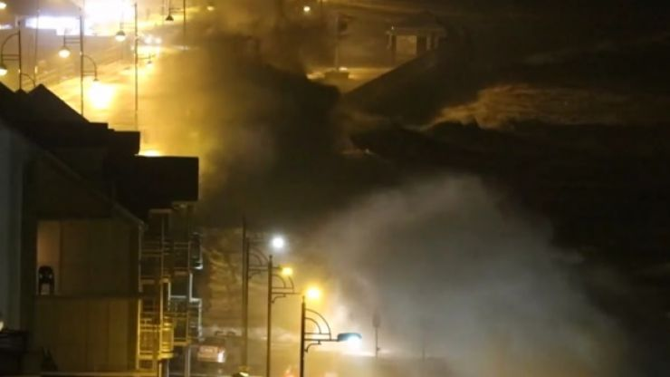 WATCH: This town in Waterford took a serious battering from Storm Doris last night