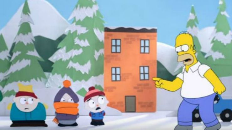WATCH: Homer visits South Park and Robot Chicken in the new couch gag