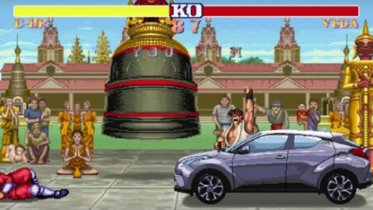 WATCH: Ryu drives a Toyota around instead of Hadouken-ing it to death