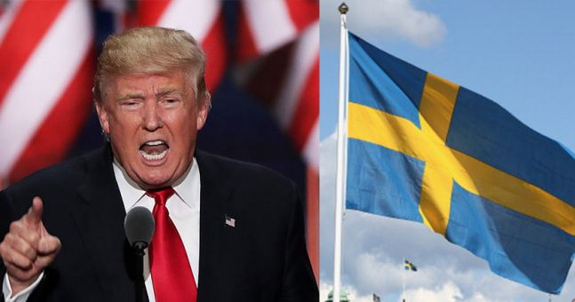 WATCH: Donald Trump seems to make up a terrorist attack in Sweden