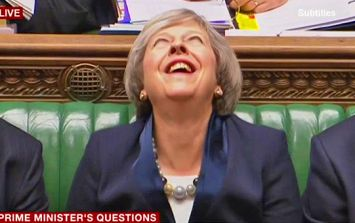 British Prime Minister Theresa May's bizarre 'other-worldly' laugh is freaking people out