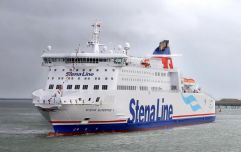 Stena Line ferry waits for Irish passengers travelling home to vote following UK train delays