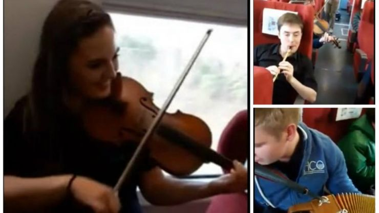 A massive céilí broke out on a train in China and the craic looked ninety