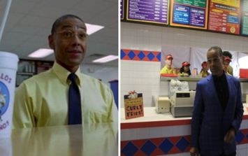 Gus Fring actually showed up at the real life version of Los Pollos Hermanos