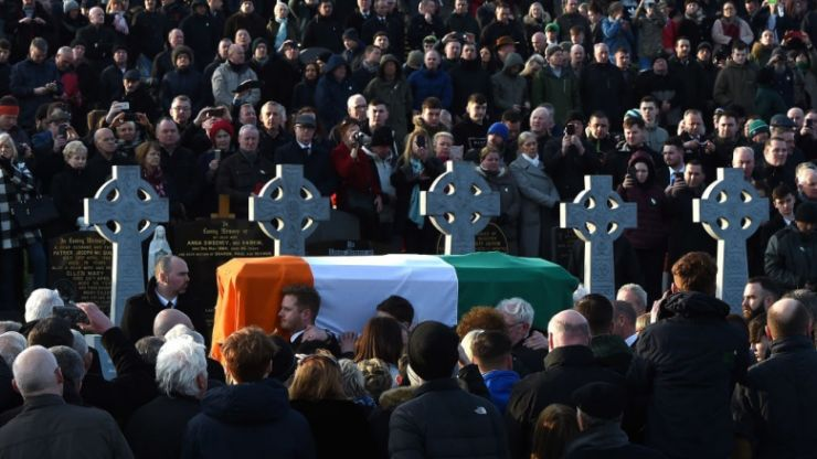 'Amhrán na bhFiann' was played and sung at the grave of Martin McGuinness and it was something special