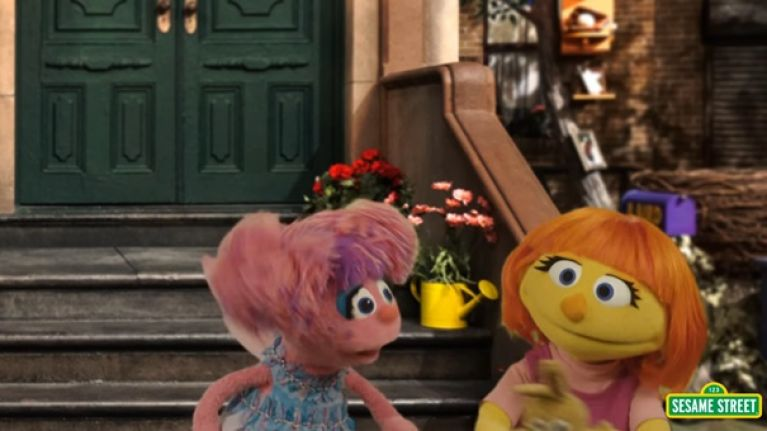 A character with autism has been introduced on to Sesame Street