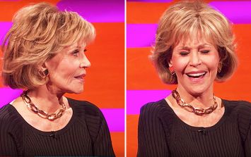WATCH: The exact moment Graham Norton explained to Jane Fonda that her new film has a very rude sounding name