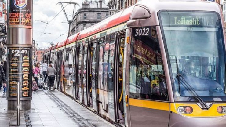 Half of the Luas green line stops out of action until Sunday