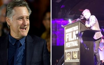 Actor Bill Pullman won an award and then accidentally broke it moments later