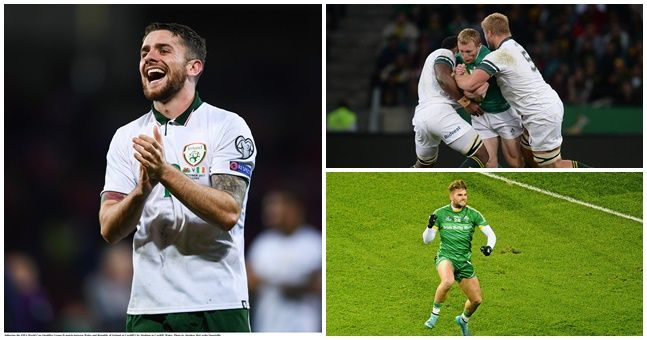 Clear your schedule because November 11-12 is an amazing weekend for Irish sport on TV