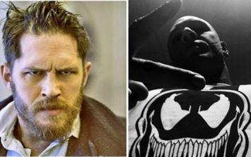 Tom Hardy is looking pretty swole as he gets in shape for Venom