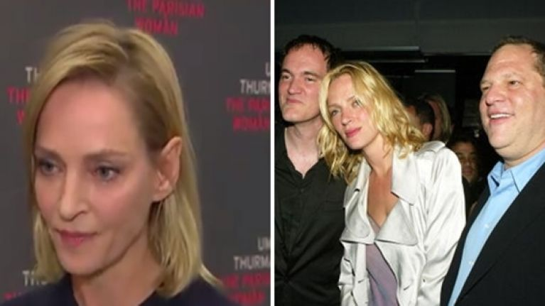 Uma Thurman gives emotionally powerful response when asked about Harvey Weinstein scandal