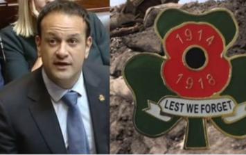 Senator explains why he gave a 'shamrock poppy' to Taoiseach Leo Varadkar