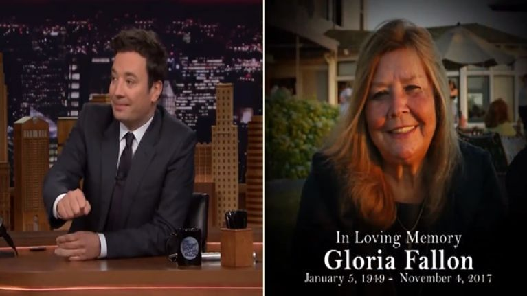 WATCH: A tearful Jimmy Fallon pays an emotional and dignified tribute to his late mother