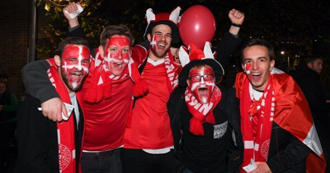 WATCH: The Danish fans made a serious racket on their way to the Aviva Stadium