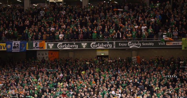 WATCH: Irish fan's sudden change from ecstasy to agony was every one of us during the first half