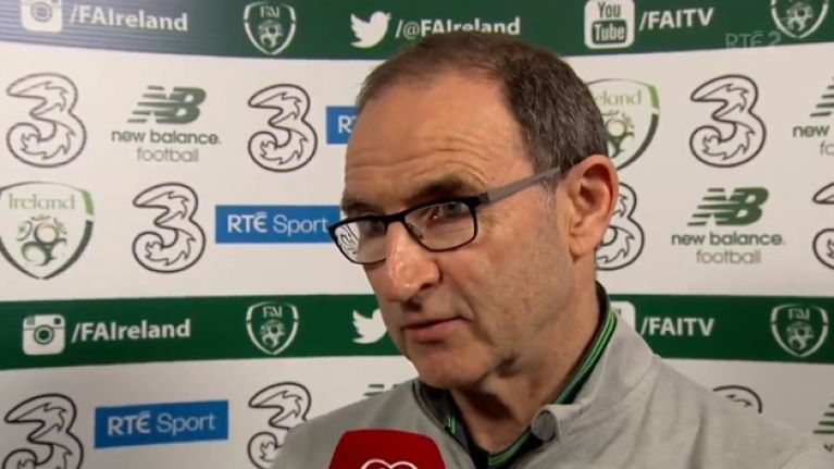 WATCH: Martin O'Neill walks out on frank post-match interview with Tony O'Donoghue