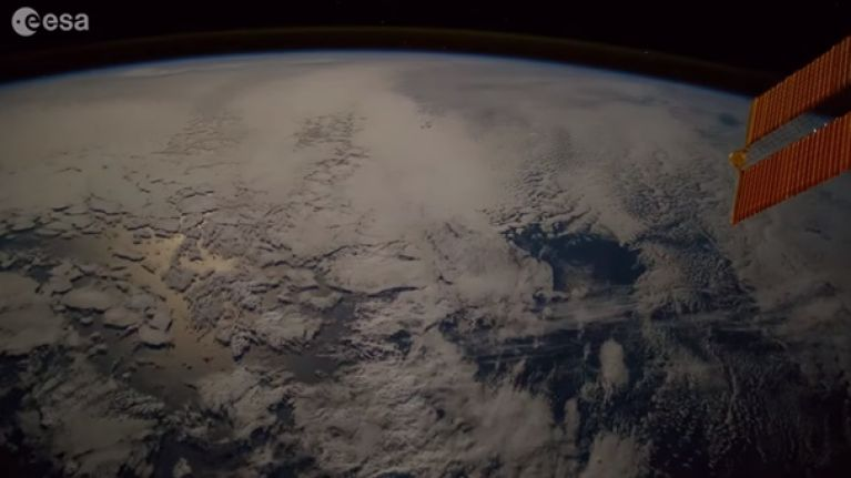 Footage from the International Space Station captures 'fireball' falling to Earth