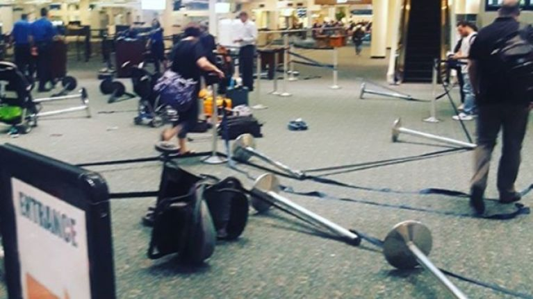 WATCH: Airport terminal evacuated in Orlando after camera battery explodes near security gate