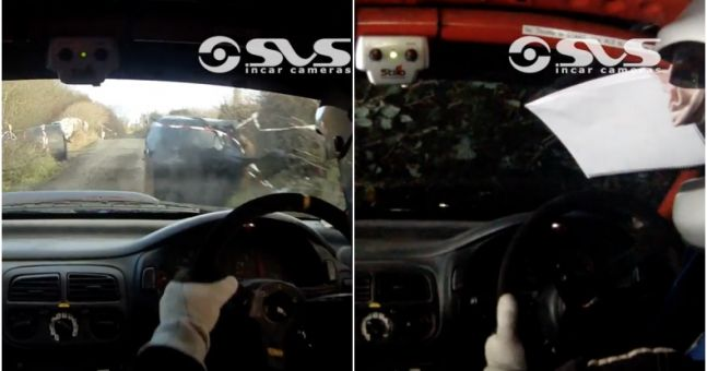 Irish rally drivers' reactions to turning over their car is ridiculously cool