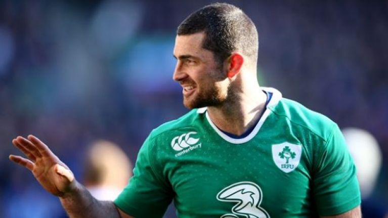 everyone is loving rob kearney at the half time point of the ireland