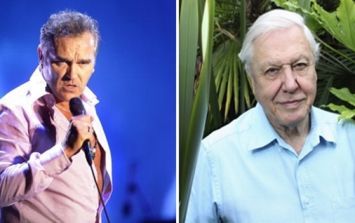 Morrissey takes a pop at Sir David Attenborough over his 'regard for animals'