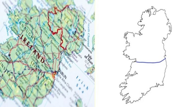 Ireland And Northern Ireland Map.People In The Uk Try To Draw Border Between Ireland And Northern