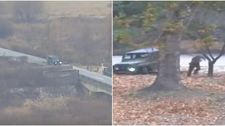 Dramatic footage shows North Korean solider escaping into South Korea
