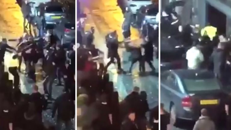 Four people arrested and another hospitalised after massive brawl erupts in Liverpool's city centre