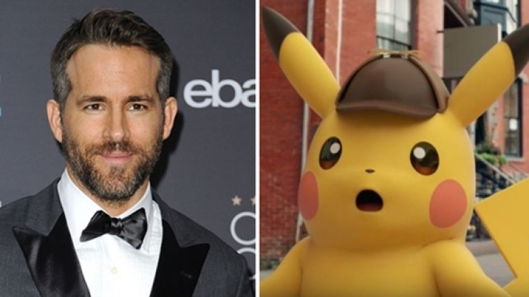 Ryan Reynolds to play Pikachu in live-action Pokemon film 'Detective Pikachu'