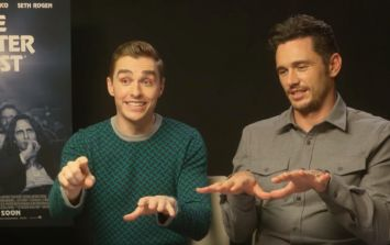 Dave Franco shows James Franco how to play the really strange game of 'FINGERS'
