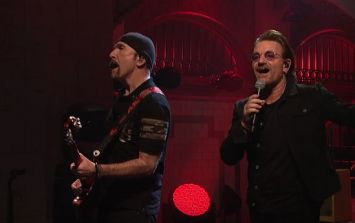 WATCH: U2 get theatrical as they bring Songs of Experience to Saturday Night Live