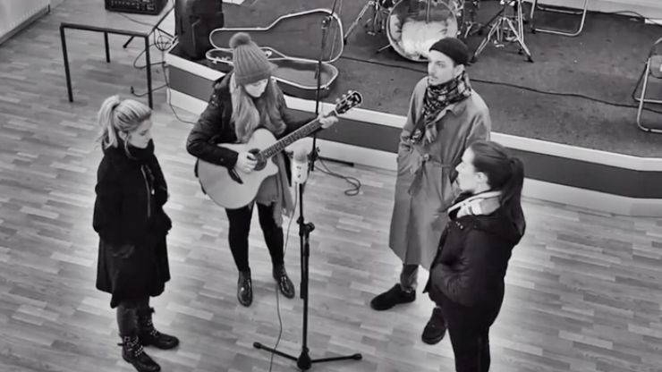 Irish band perform a very special acoustic cover of 'Do They Know It's Christmas?'