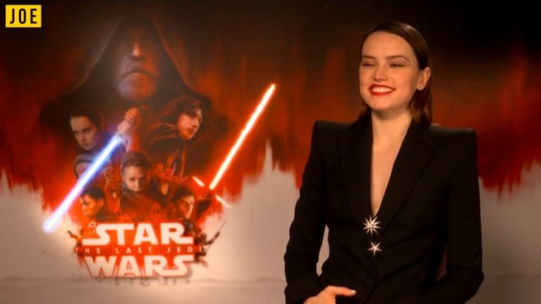 Daisy Ridley talks about pulling pints and sweating up a jig at The Last Jedi wrap party in Dingle