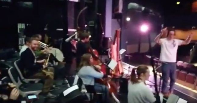 Watch Irish Orchestra Plays Along In Time With Rogue Fire