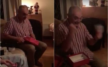 WATCH: Irish Dad loses the run of himself when he finds out he got Taylor Swift tickets